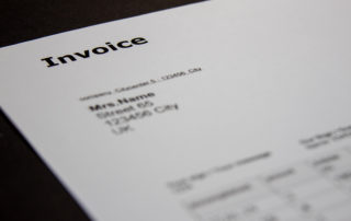 """Invoice Templates Design In Minimal Style With Text """"invoice"""" On"""