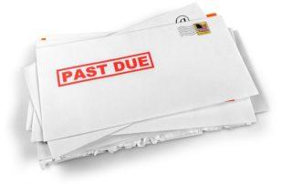 past due bill envelop